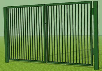 Сварные ворота для дачи