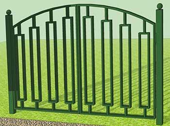 Ворота с навершиями