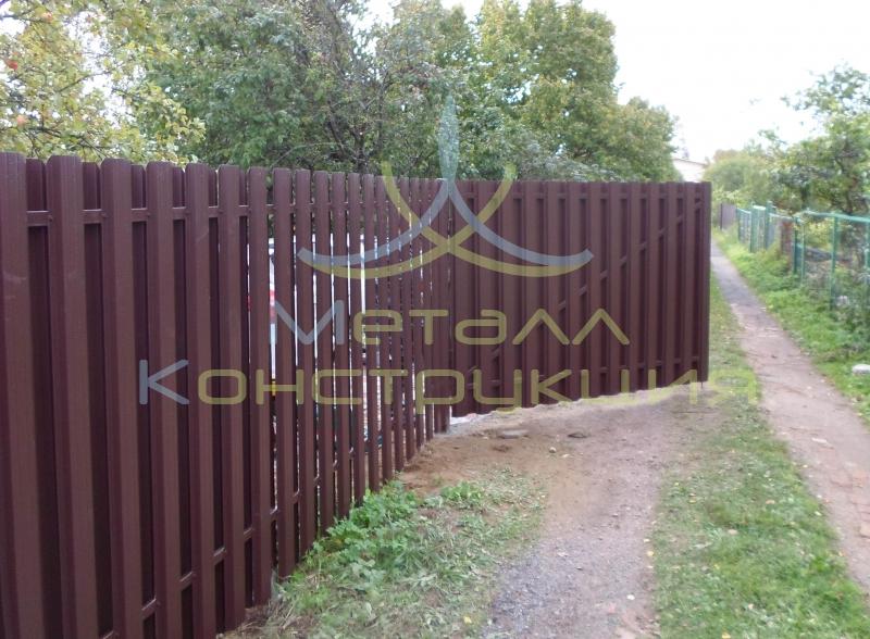 Забор на дачу спб сколько нужно профиля для ворот