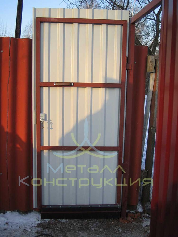 Двери из металлопрофиля своими руками 992